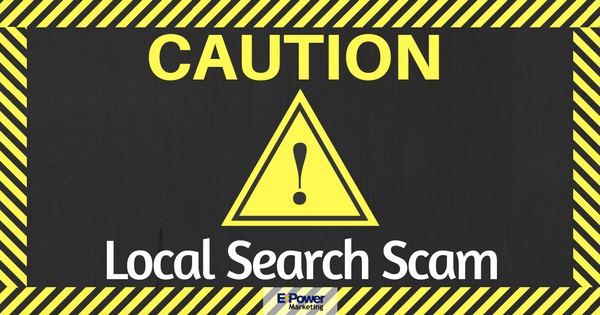 Caution: Local Search Scam