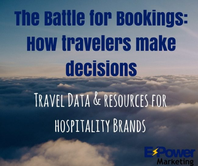 The Battle for Bookings: How travelers make decisions. Travel data & resources for hospitality brands.