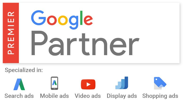 Premier Google Partner - Search, Mobile, Video, Display & Shopping Ads