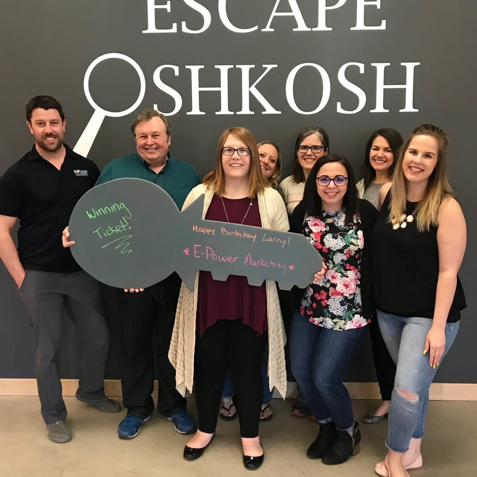 The E/Power team at Escape Oshkosh during a team day!